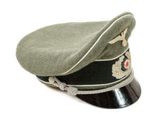 German in the Second World War. German officer uniform cap. A german in the Second World War. German officer uniform cap Royalty Free Stock Photo