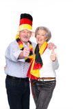 German senior sport fans stock images