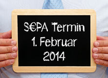 German SEPA sign Royalty Free Stock Image