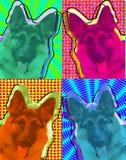 German Shepard Pop Art Royalty Free Stock Image