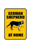 German Shepard Sign. German Shepard at home sign Royalty Free Stock Images