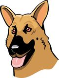 German shepherd cartoon Stock Image