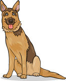 German shepherd dog cartoon illustration Stock Images
