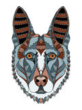 German shepherd dog head zentangle stylized, vector, illustratio Royalty Free Stock Photo