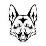 German Shepherd dog icon. Stock Photography