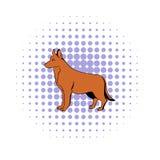 German Shepherd dog icon, comics style Royalty Free Stock Photo