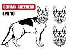 German Shepherd dog icon. Royalty Free Stock Images