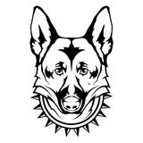 German Shepherd dog icon. Royalty Free Stock Image