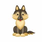 German shepherd dog. German shepherd. Vector image of a cute purebred dogs in cartoon style Stock Image