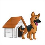 German Shepherd. Friendly dog of the German Shepherd breed Royalty Free Stock Photos