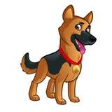 German Shepherd. Friendly dog of the German Shepherd breed Royalty Free Stock Images