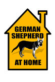 German shepherd sign Royalty Free Stock Image