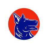 German Shepherd Silhouette Mascot Stock Photo