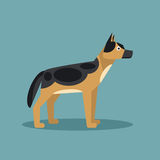 German Shepherd. Vector Illustration Royalty Free Stock Images