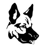 German shepherd  vector illustration style Flat Royalty Free Stock Photography