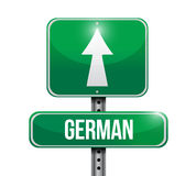 German signpost illustration design Stock Photos