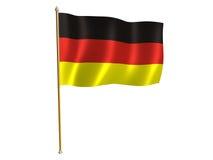 German silk flag. Silk flag of Germany Royalty Free Stock Photography