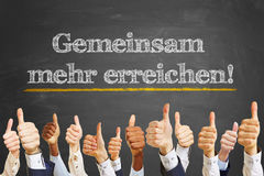 German slogan Stock Photography