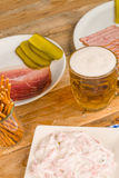 German snacks with beer Royalty Free Stock Images
