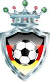 German soccer. Vector illustration with soccer ball and german flag Royalty Free Stock Images