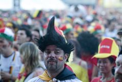 German Soccer Fan Stock Image