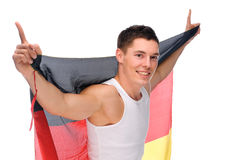 German soccer fan Royalty Free Stock Photography