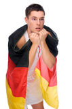 German soccer fan Stock Photo
