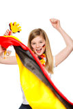 German soccer fan cheering Royalty Free Stock Images