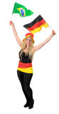 German soccer fan isolated on white Stock Photos