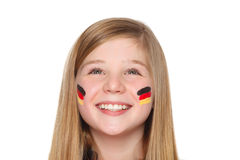 German soccer fan Royalty Free Stock Image