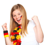 German soccer fan smiling Stock Photography