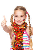 German soccer fan with thumbs up Royalty Free Stock Photo