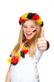 German soccer fan with thumbs up Stock Images