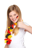 German soccer fan with thumbs up Stock Image