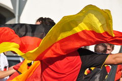 German soccer fans celebrating victory Royalty Free Stock Photography
