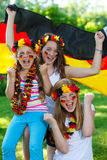German soccer fans outdoor Royalty Free Stock Photo