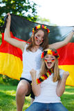 German soccer fans outdoor Royalty Free Stock Photography