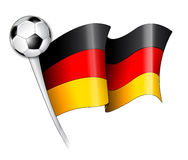 German Soccer Flag Illustration. Illustration of a German flag with the soccer ball Stock Images