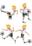 German soccer player cartoon character posing Stock Photo