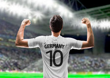 German soccer player in the stadium Royalty Free Stock Photos
