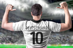 German soccer player in the stadium Royalty Free Stock Photo