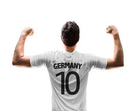 German soccer player on white background Stock Images