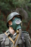 German soldier in gas mask Royalty Free Stock Photography