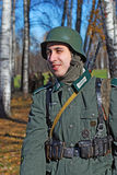 German soldier-reenactor Stock Images