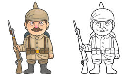 German soldier during World War one Royalty Free Stock Image