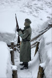 German soldier of WW2.Winter Stock Photos