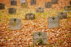 German soldiers gravestones Stock Photos