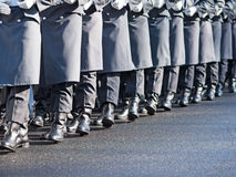 German soldiers of the guard regiment. Marching royalty free stock image