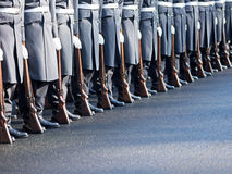 German soldiers of the guard regiment Stock Photo