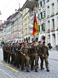 German soldiers marching in Bern. Stock Image